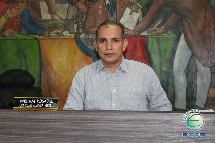 William Rosas, presidente del Concejo de Ibagué