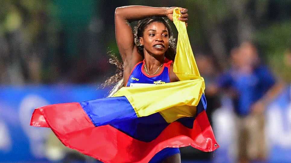 Caterine Ibargüen fue segunda en salto largo — Liga Diamante