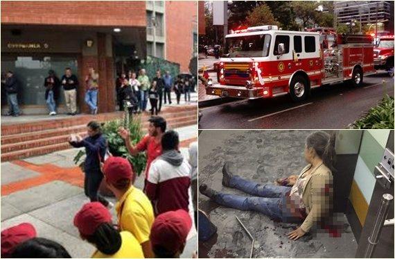 Difunden video minutos después de la explosión en Bogotá