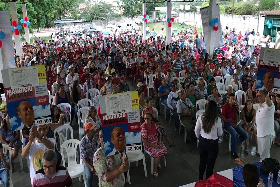Mauricio Alvarado, cierre de campaña