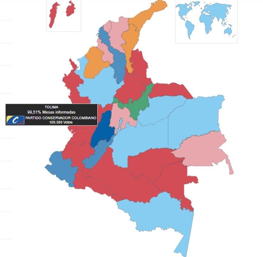 Partido Conservador Colombiano gan en el mapa poltico del Tolima