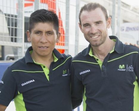 Quintana y Valverde liderarán al equipo de Movistar