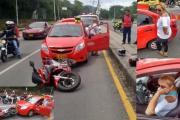 En video quedó registrada la conductora ebria que generó accidente frente al Club Campestre de Ibagué