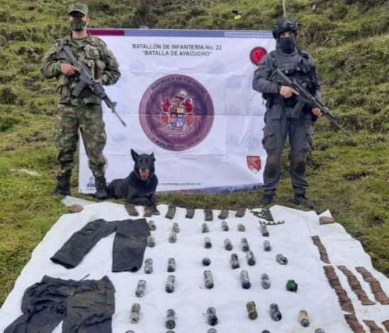 Ejército y Fiscalía hallaron explosivos de los Bolcheviques del ELN