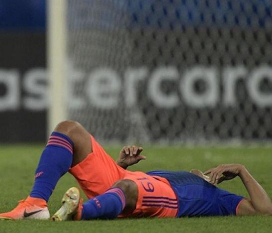 Dura pérdida en medio de la victoria: Muriel no va más