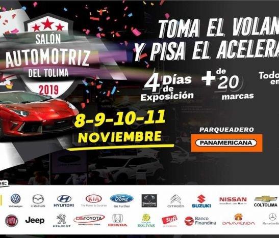 Del 8 al 11 de noviembre se llevará a cabo el Salón Automotriz en Ibagué