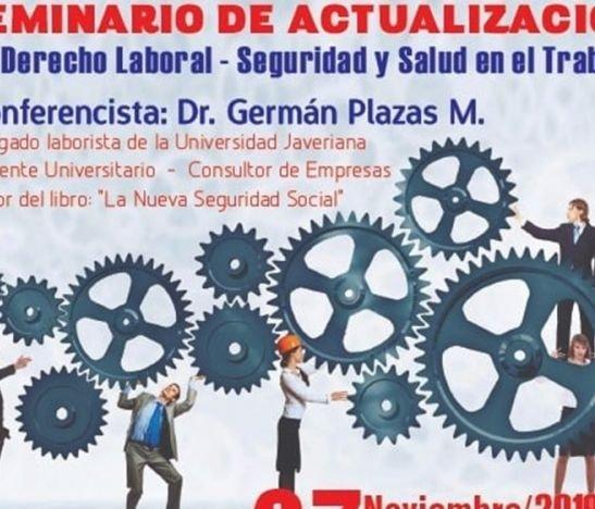El 27 de noviembre se llevará a cabo el 'Seminario de actualización en derecho laboral y seguridad en el trabajo