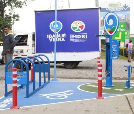 Ibagué Limpia inauguró esta mañana la primera BiciEstación de Mirolindo