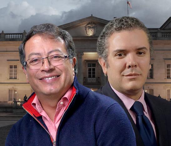 Duque y Petro puntean en nueva encuesta de intención de voto