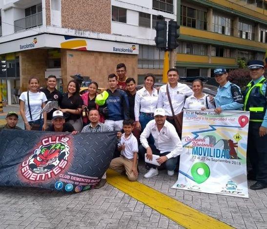 El Club Dementes Ibagué continúa adelantando jornadas de sensibilización para reducir los accidentes de tránsito