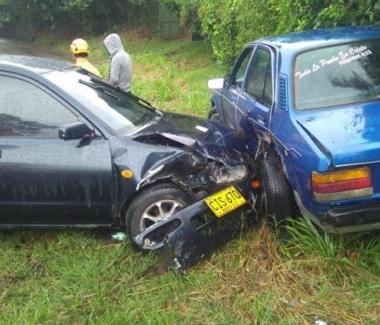 Dos personas heridas dejó aparatoso accidente en el norte del Tolima