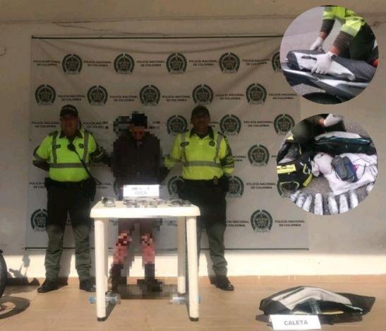 Integrantes de la Policía departamental capturaron a un hombre cargado de base de coca
