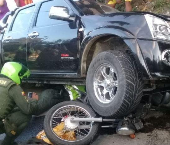 Trágico accidente esta mañana cobró la vida de un motociclista en el sur de Ibagué