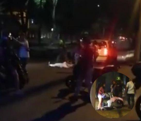 Grupo de ciudadanos atacó a dos integrantes de la Policía Metropolitana
