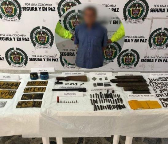 Policía Metropolitana logró la desarticulación de una fábrica de placas falsas en Ibagué