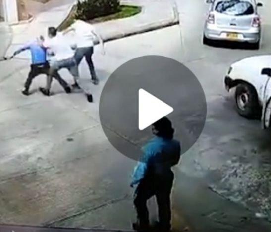 Golpes, disparos y dos capturados dejó una riña en un conjunto de Ibagué