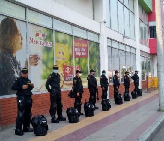 Policía activó grupo de reacción inmediata para atender casos de saqueo