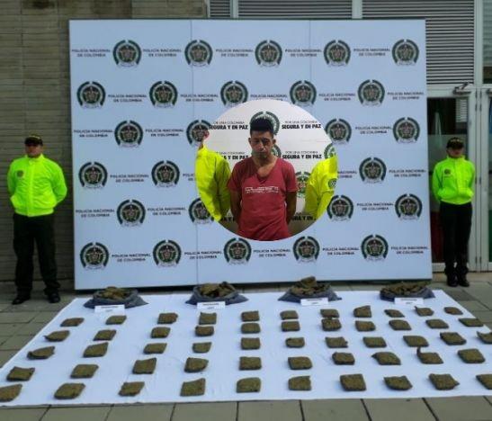 Policía Metropolitana capturó a un hombre que transportaba 25 libras de marihuana