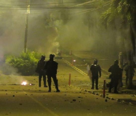 Así terminó la jornada de protesta contra el ESMAD en Ibagué