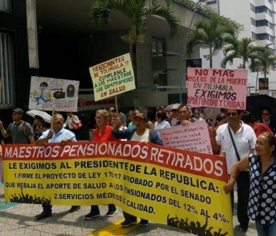 Organizaciones sindicales del Tolima se suman al gran paro nacional