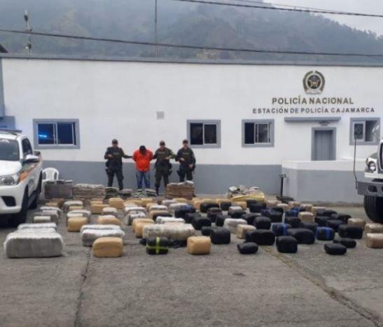 Más de tres mil millones de pesos en marihuana fueron incautados por la Policía Metropolitana