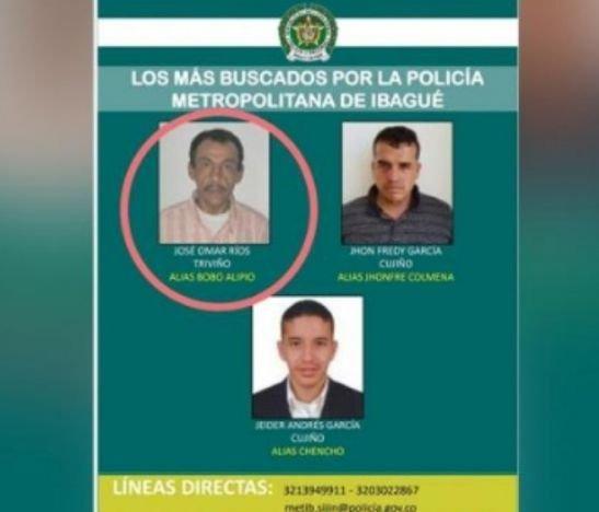 Sujeto reseñado en el cartel de los más buscados en Ibagué fue capturado