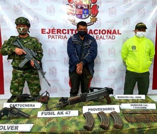 A la cárcel fue enviado el presunto cabecilla de las FARC capturado en el Tolima