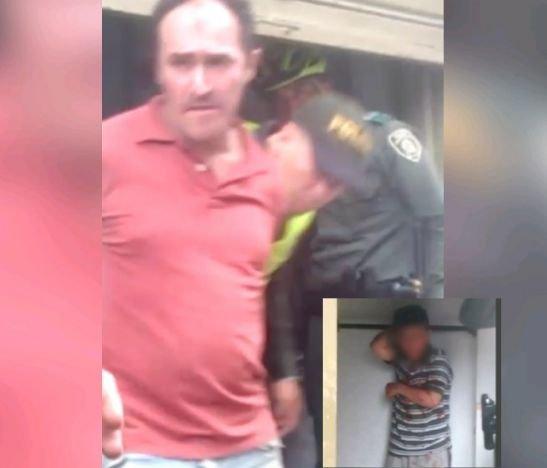 Ciudadano fue capturado en pleno centro de Ibagué por golpear salvajemente a su hijo
