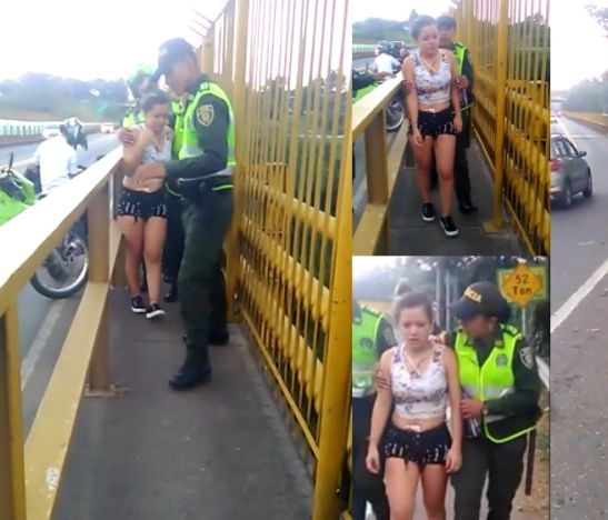 Intento de suicidio fue frustrado en el puente de la variante