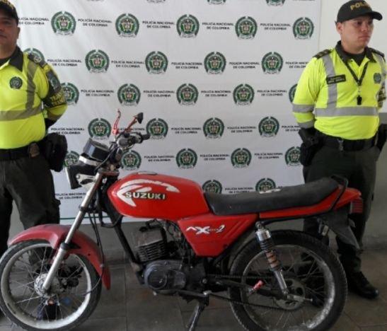 Autoridades recuperaron una motocicleta que había sido hurtada en el Espinal
