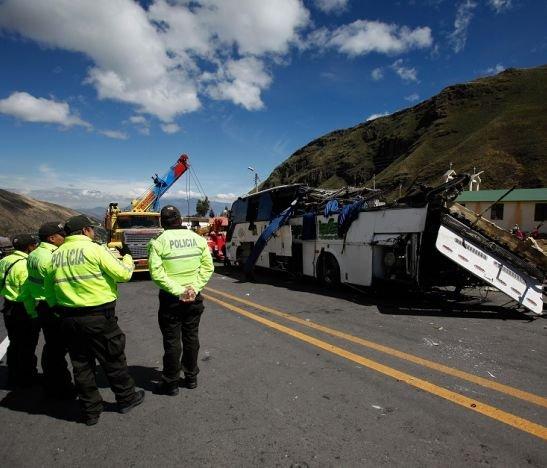 Accidente Bus Colombiano en Ecuador