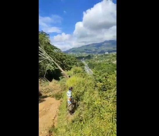 En alerta se encuentran los habitantes del sector de la Martinica por los recientes deslizamientos de tierra