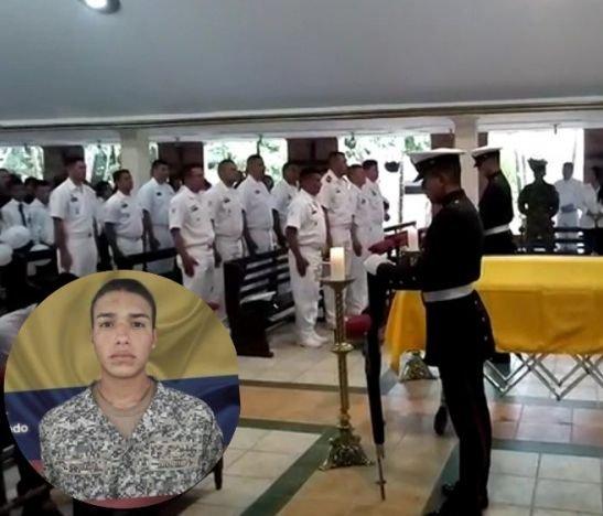 Le dieron el último adiós al infante de marina asesinado en Arauca
