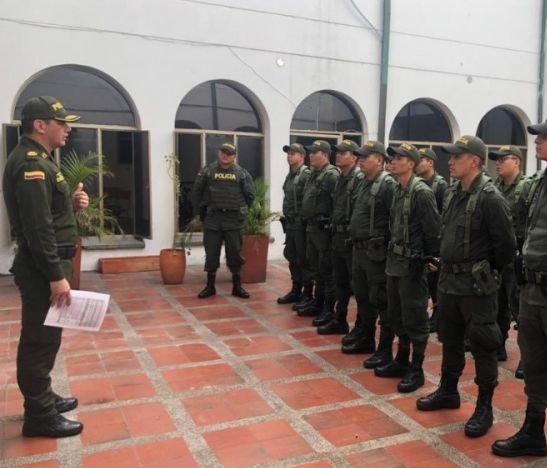 Policía departamental se tomó el municipio del Guamo