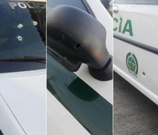 A bala recibieron a los policías en el barrio El Bosque de Ibagué