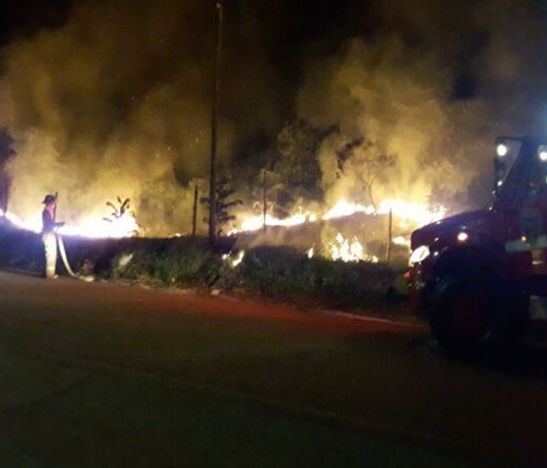 Incendio vegetal Chaparral