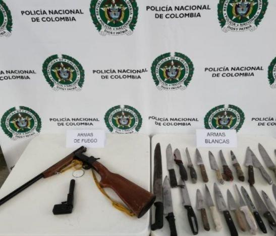 Operativos en la comuna 10 de Ibagué permitió incautar una gran cantidad de armas