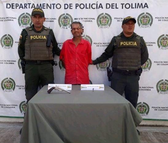 Hombre fue capturado con un arma de fabricación artesanal en Rovira - Tolima
