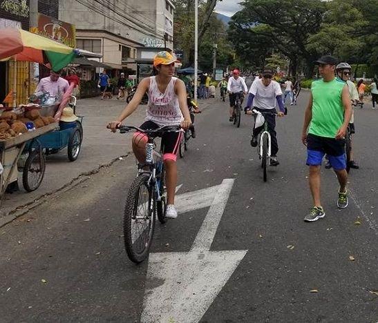 Hoy regresa la ciclovía a Ibagué en el horario y el recorrido habitual