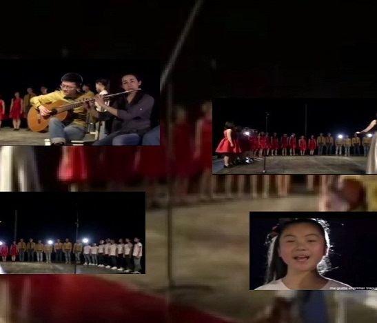Erika Morant y el coro de Shanghái