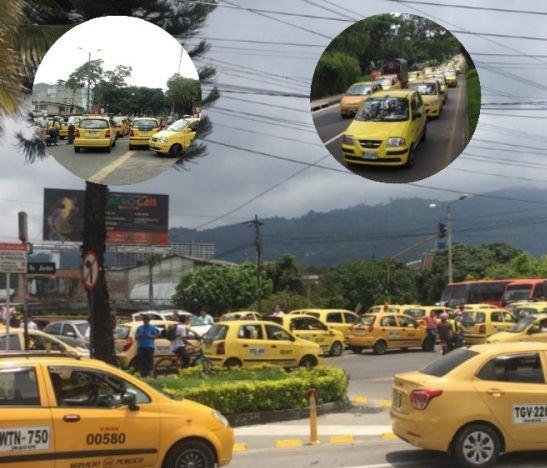Taxistas paralizaron la movilidad este medio día en Ibagué