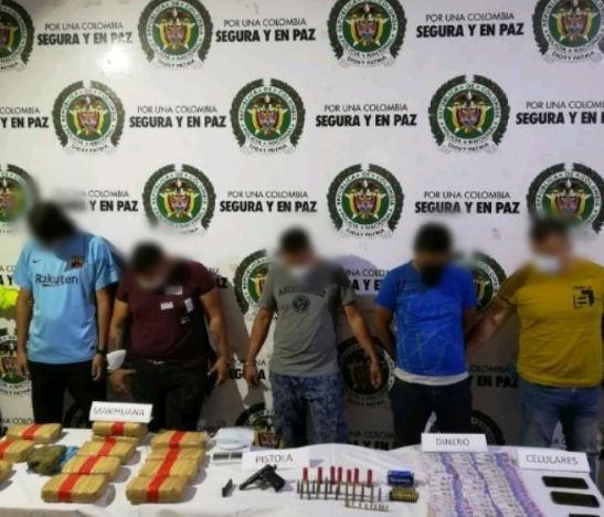 Cinco capturados dejó operativo de la Policía en Ibagué