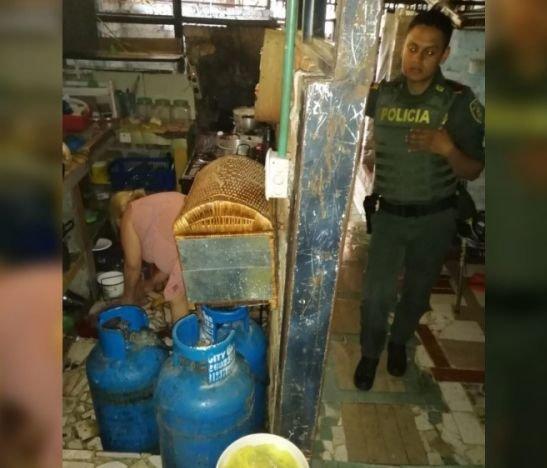 Fuga en la manguera de un cilindro de gas causó una explosión en el barrio San Pedro Alejandrino