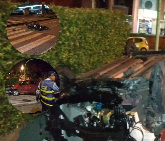 Tres heridos dejó un grave accidente de tránsito en la 37 con Quinta de Ibagué