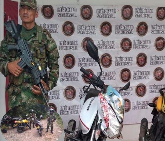 Operativo del Ejército permitió la recuperación de dos motos hurtadas horas atrás