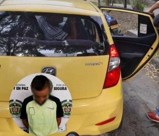 Pasajeros de un taxi fueron sorprendidos transportando una libra de marihuana