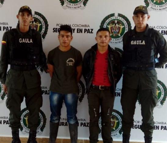 Capturaron a dos hermanos extorsionistas en Cajamarca - Tolima