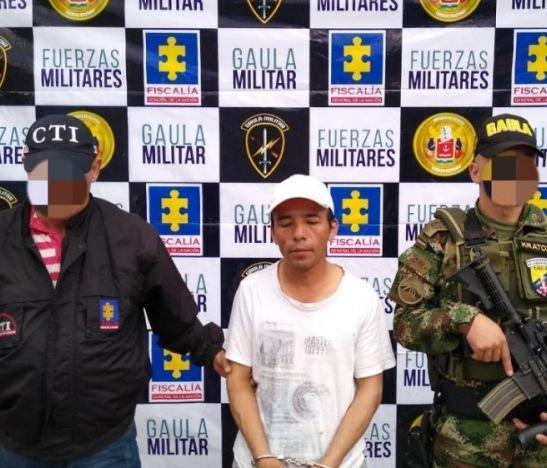 Gaula Militar capturó a un extorsionista que delinquir en cinco departamentos