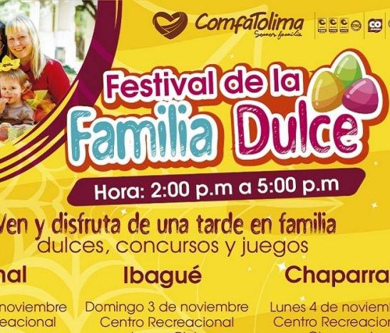 ComfaTolima trae para todos sus afiliados el Festival de la Familia Dulce