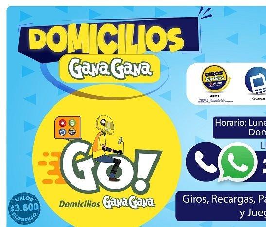 Con Go! Domicilios, GanaGana más cerca de los ibaguereños